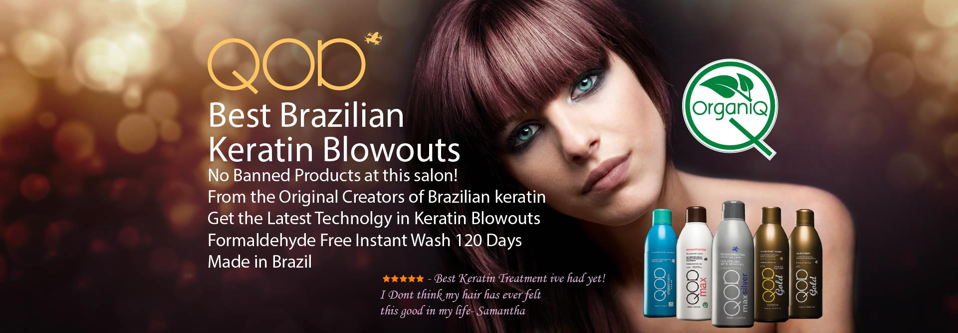 QOD Brazilian Blowout Bangkok keratin hair straightening treatments